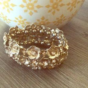 Ann Taylor Loft Floral Wide Bracelet